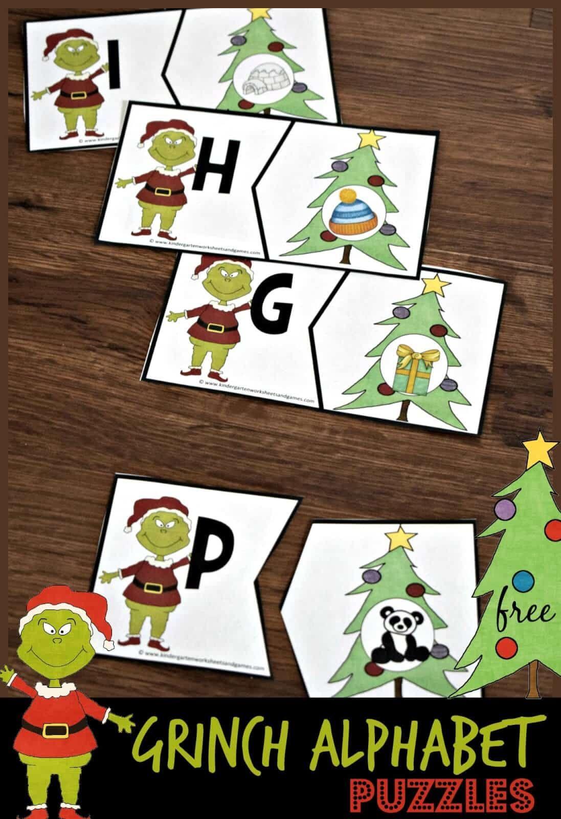 Grinch Alphabet Puzzles