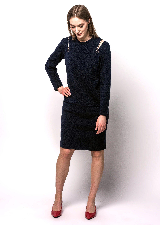 Wool Dress Navy Dress Long Sleeves Dress With Pockets Etsy Long Dress Wool Dress Elegant Dresses [ 3000 x 2129 Pixel ]