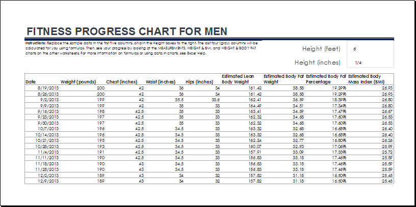 Fitness And Weight Loss Chart For Men At DotxlsOrg  Microsoft