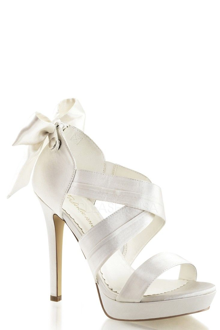 3 Inch Wedding Shoes : wedding, shoes, Ivory, Criss, Cross, Accent, Heels, Satin, Wedding, Sandals,, Bride, Shoes,, Sandals