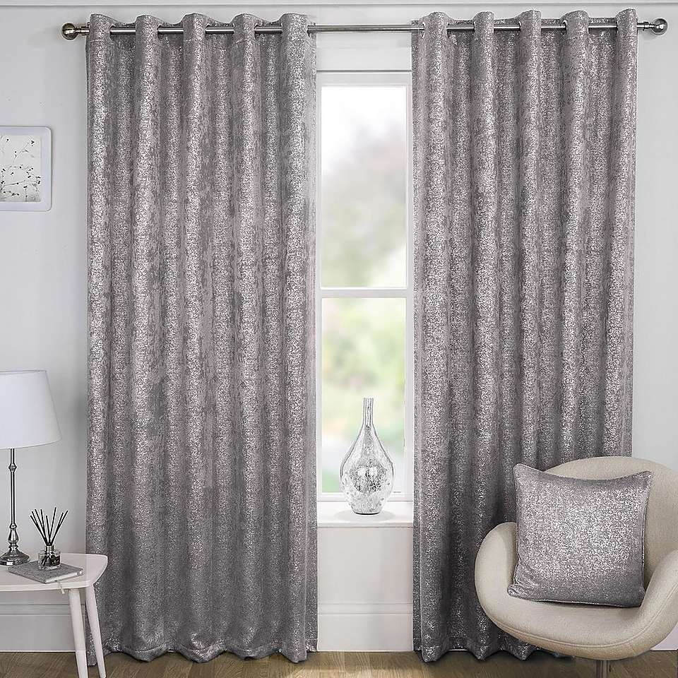 Halo Grey Velvet Thermal Eyelet Curtains Dunelm Grey Eyelet Curtains Ready Made Eyelet Curtains Thermal Curtains