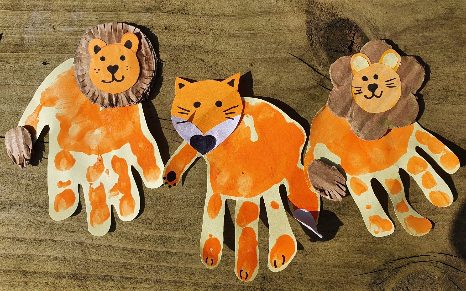 Animal Hand Prints In