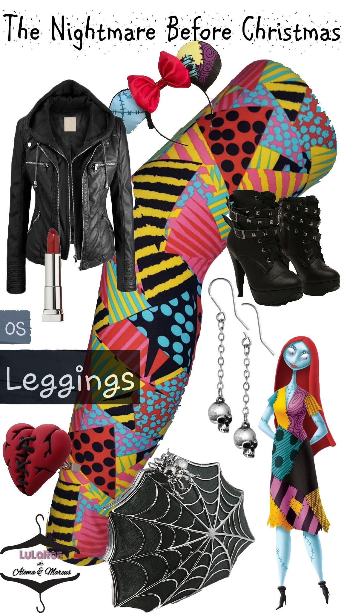 b4f668624eeb7 The Nightmare Before Christmas DISNEY inspired Lularoe Leggings ...