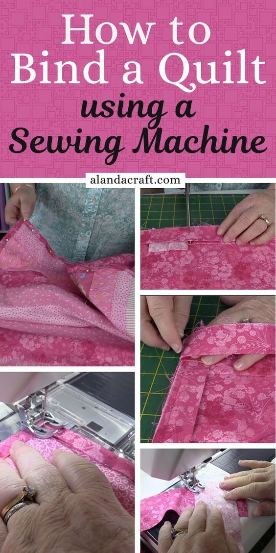 How to Bind a Quilt Using Your Sewing Machine is part of Sewing projects for beginners, Beginner sewing projects easy, Sewing tutorials, Sewing hacks, Quilt binding, Sewing projects - Once you have completed the assembly part of your quilt you will now want to know how to bind a quilt to completely finish it  Binding adds the finishing touch to your quilt  This is especially so if you have completed a quilt as you go project  In this case its essential to bind your quilt to cover the raw edges and give your quilt some stability on those edges  The binding also adds a decorative finish to your quilt  Neither of us are keen on hand sewing so we bind our quilts using a sewing machine  Scroll down to view the