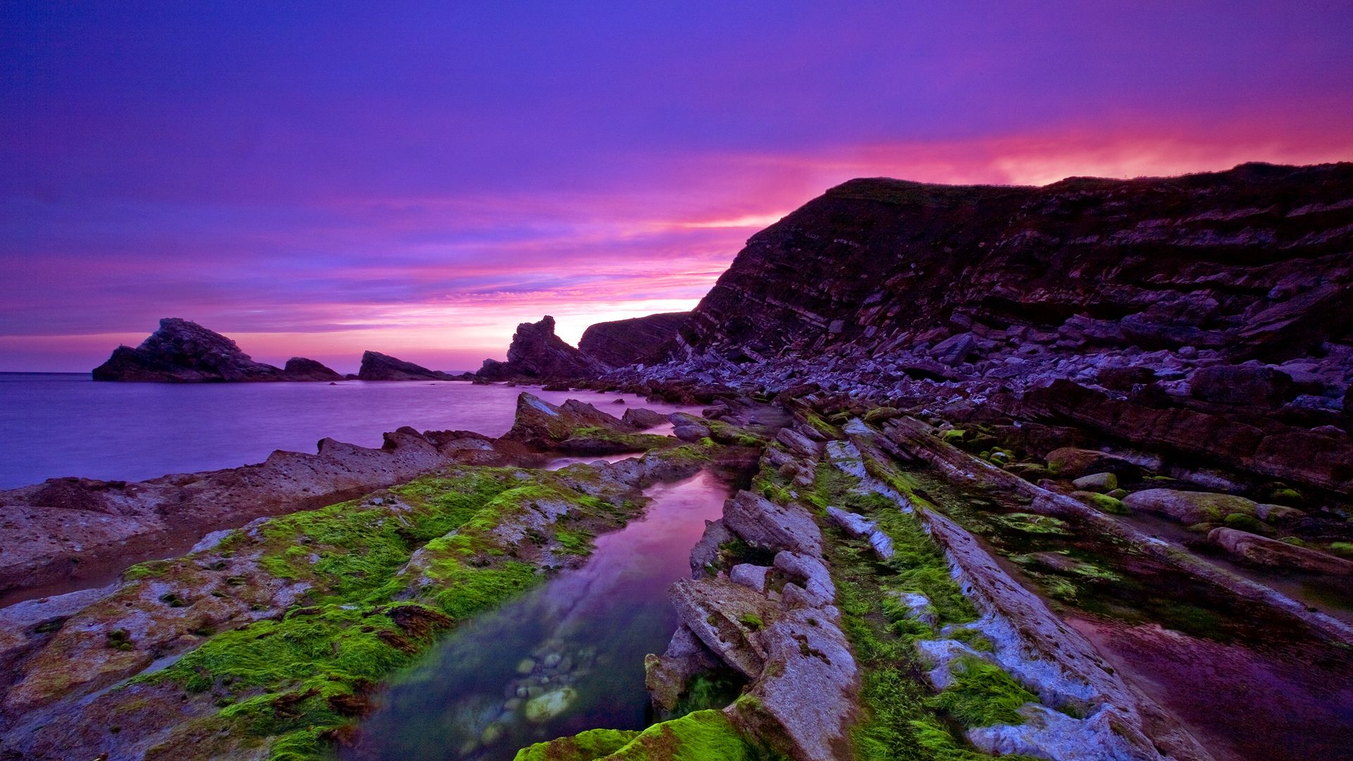 Mupe Bay England Hd Jpg 1920 1080 Sunset Landscape Scenic Pictures