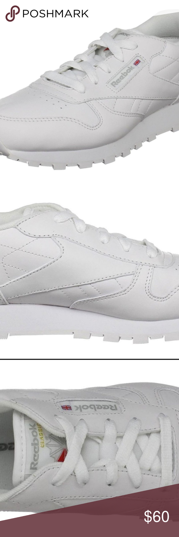 b069152fbff Reebok Classic Leather White Junior Kids Running T Condition  New without  box  A brand-new