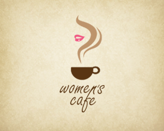 I really love how this logo shows a coffee steam AND a woman's face at the same time