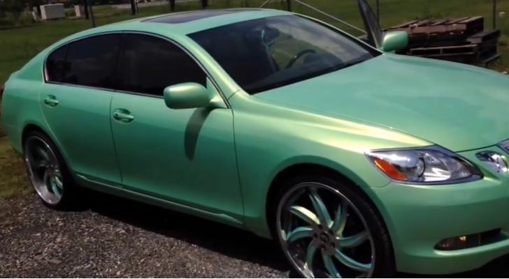 See A Mint Green Lexus Gs On 22 Inch Rims Video Lexus Gs