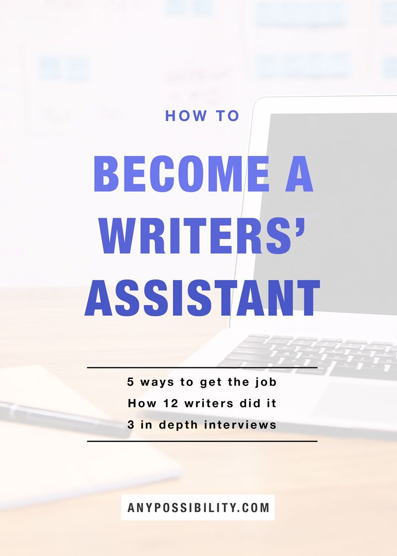 How to a Writers' Assistant a writer, Tv