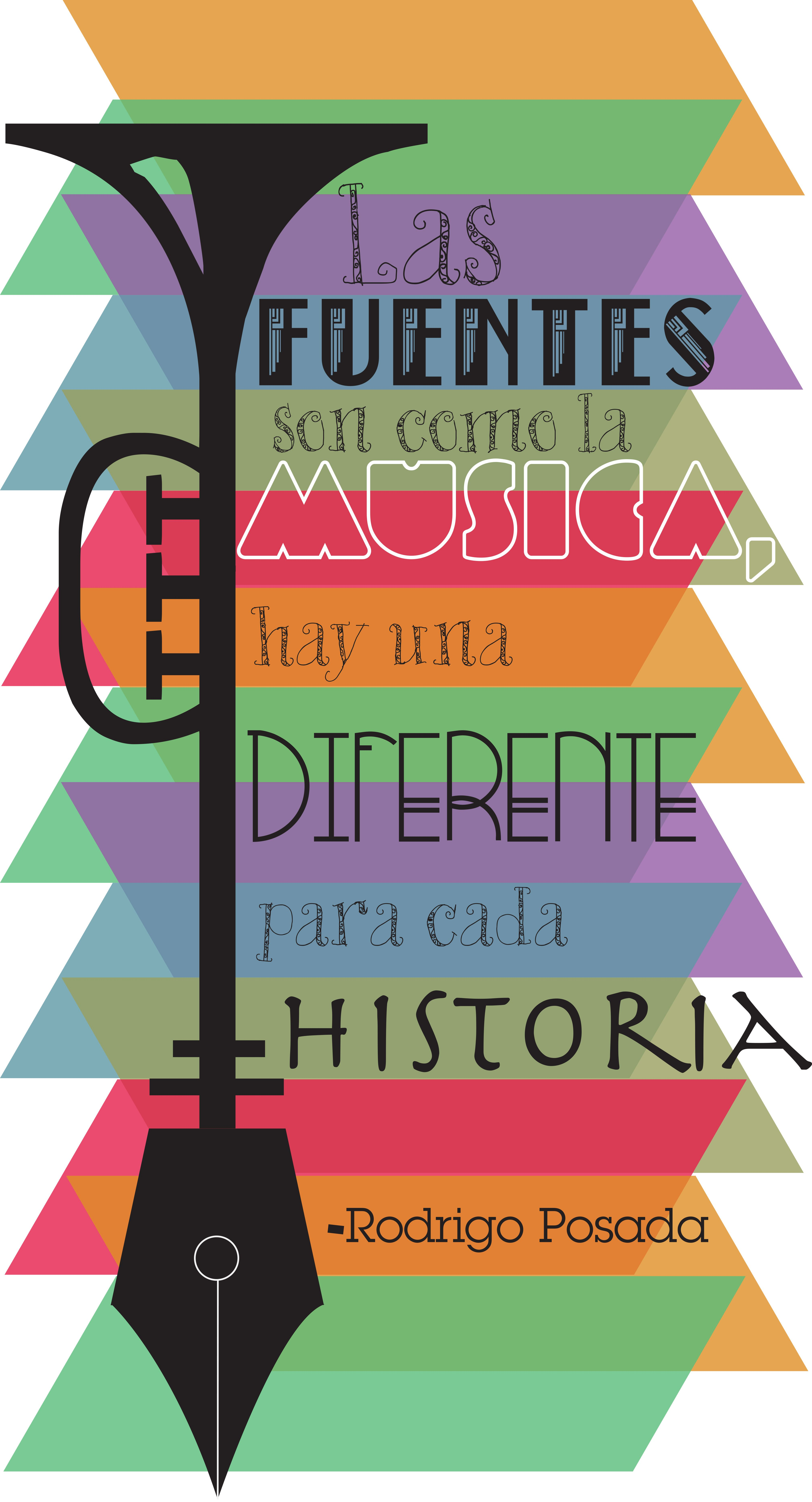 """""""Fonts are like music, there is a different one for each story"""" - Rodrigro Posada, Artwork by Juan M. Rojas"""