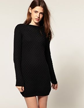 e8002740433c Asos - sweater dress in a honeycomb knit pattern (great basic ...