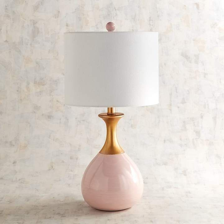 Pier 1 Imports Genie Pink Gold Table Lamp Gold Table Lamp