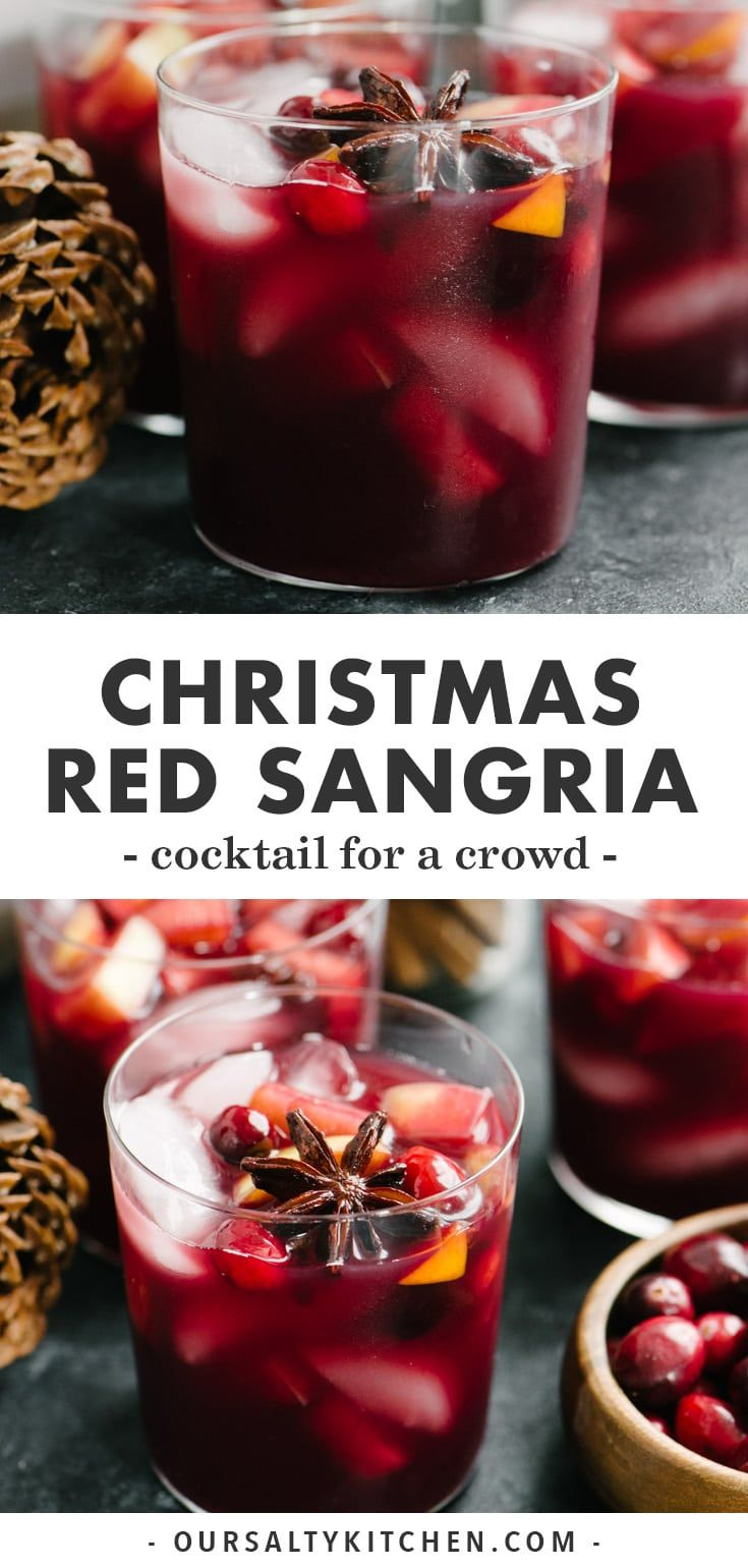 Spiced Holiday Sangria Recipe Holiday Sangria Christmas Cocktails Recipes Red Sangria Recipes
