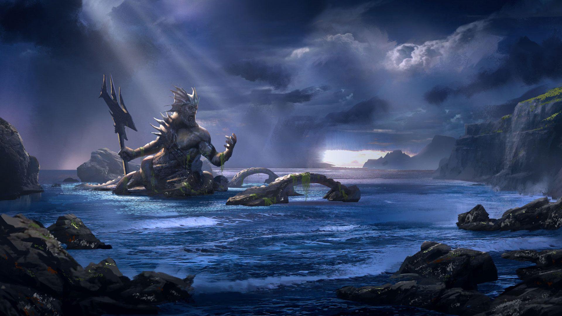 Image Result For Lord Shiva Hd Wallpapers Poseidon Wallpaper Concept Art World God Of War