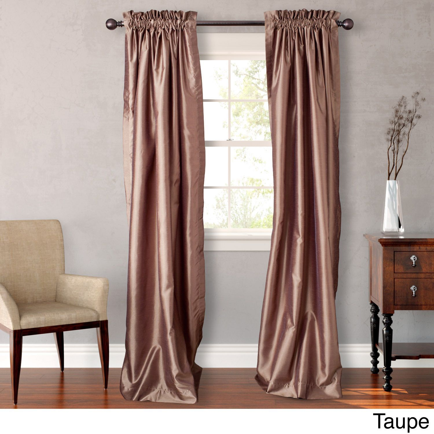 Heritage Landing Faux Silk 96 Inch D Are Available In 5 Vibrant Colors The Lined Drape Panels Add Drama And Complete Room S Decor