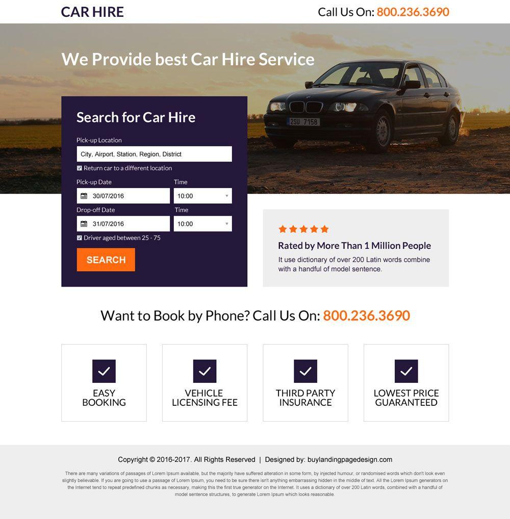 Rentify Car Rental Booking Psd Template Psd Templates Car