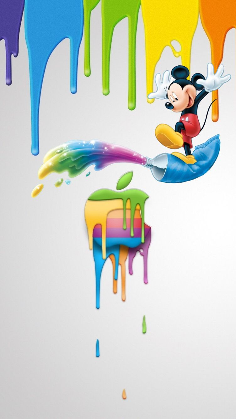 Oboi Iphone Wallpapers Mickey Mouse Wallpapers Pinterest