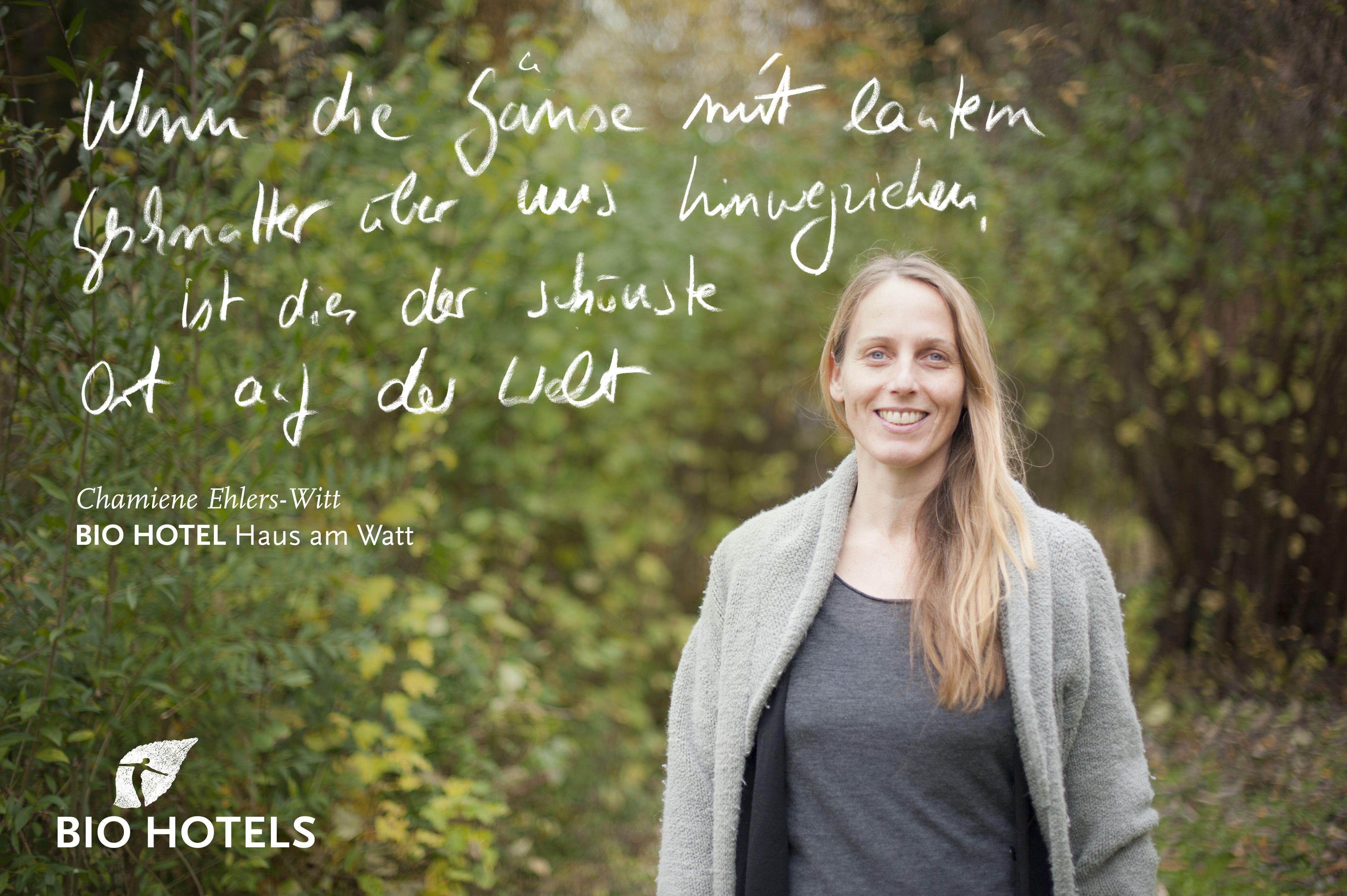 Ihre Gastgeberin Chamiene Ehlers-Witt im #biohotel Haus am Watt ...