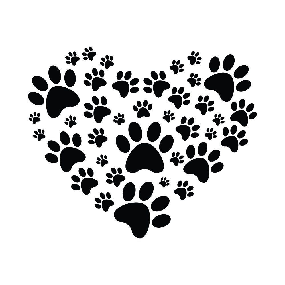 Download Paw Heart SVG, I Love Animals SVG, Animal SVG- Cuttable ...