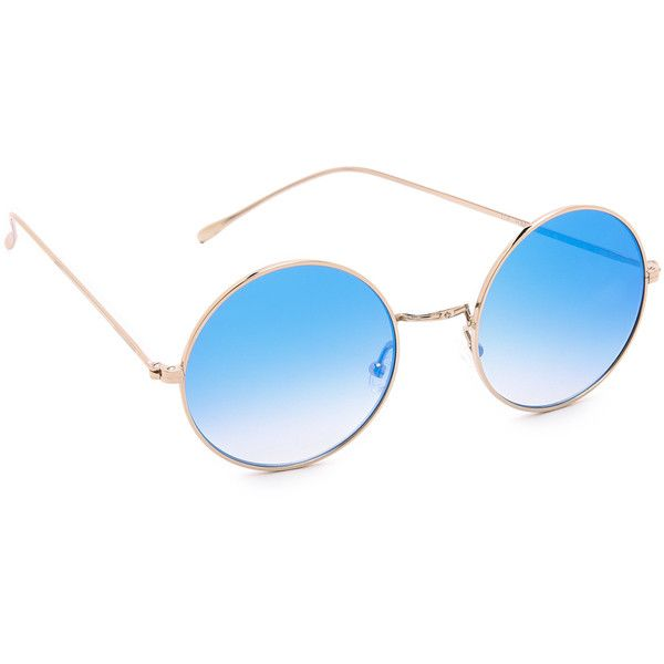Illesteva Porto Cervo Mirrored Sunglasses ($195) ❤ liked on Polyvore featuring accessories, eyewear, sunglasses, glasses, mirrored sunglasses, retro sunglasses, retro mirrored sunglasses, polarized mirror sunglasses and round frame glasses