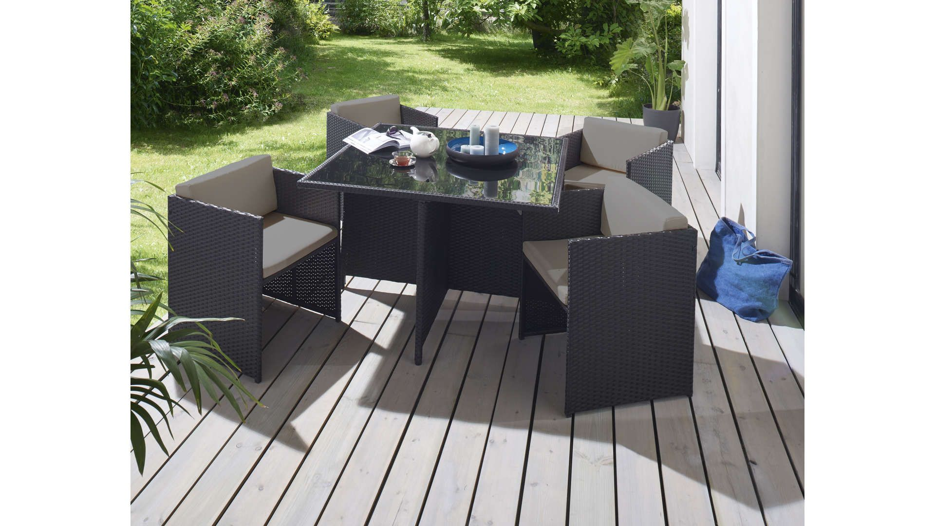 Salon De Jardin 1 Table Et 4 Fauteuils 615416 Ensemble Table De