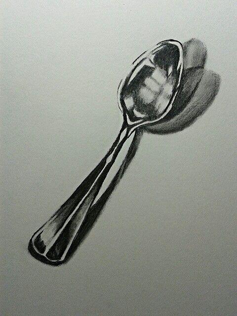 Spoon Drawing By Cari Espinosa Sketch Board In 2019 Art