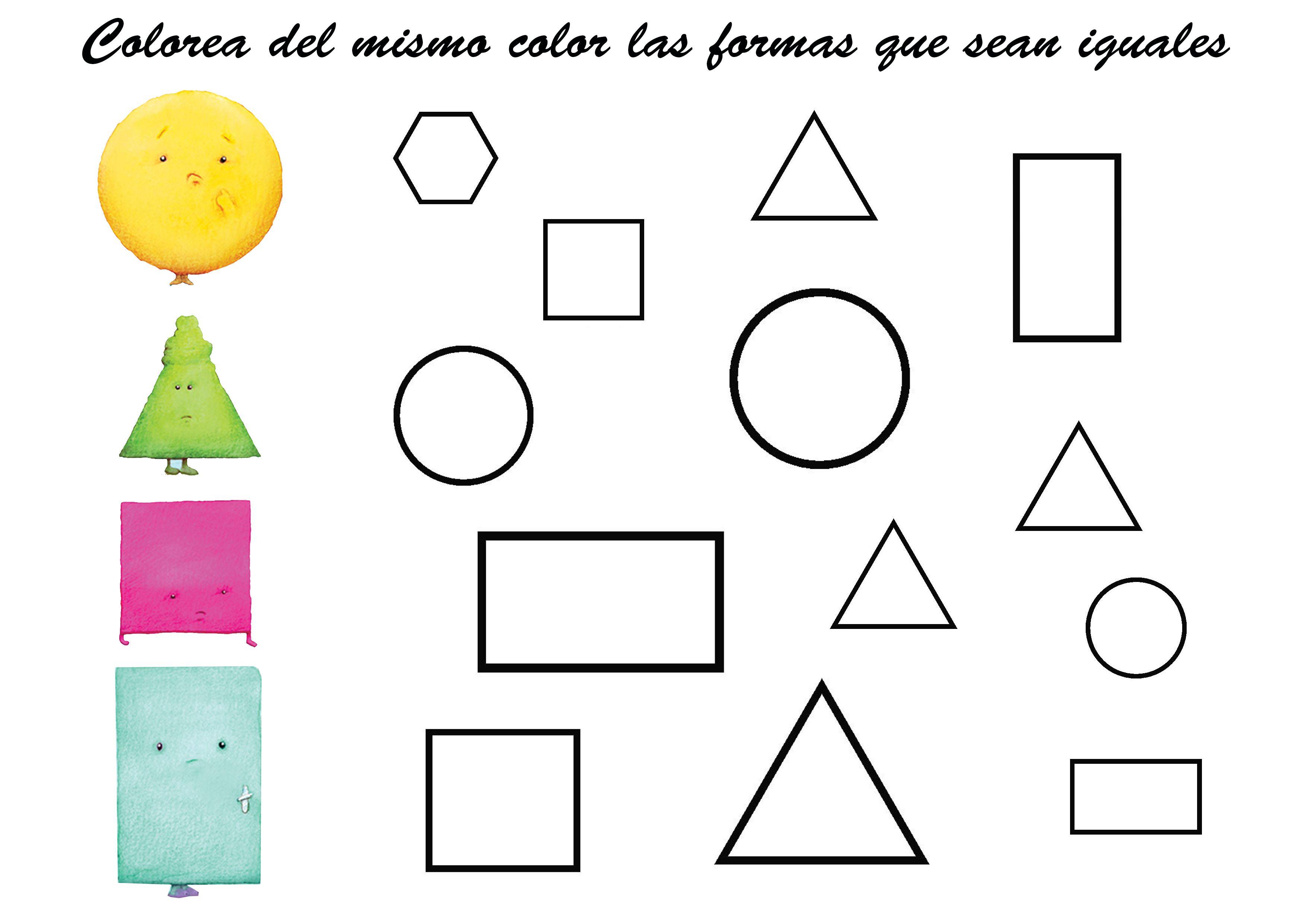 Figuras Para Colorear Para Niños: Colorea Figuras Geométricas