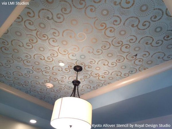 On The Up And Up Decorate Your Home With Ceiling Stencils Diy