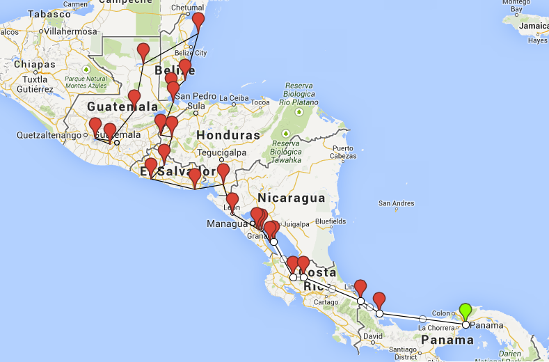 Itinerary for 3 months of Backpacking Central America Central
