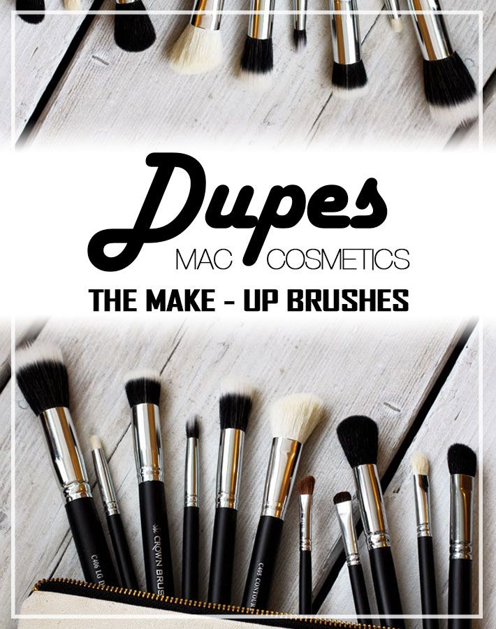 M.A.C Cosmetics Makeup Brush Dupes from Crownbrush UK