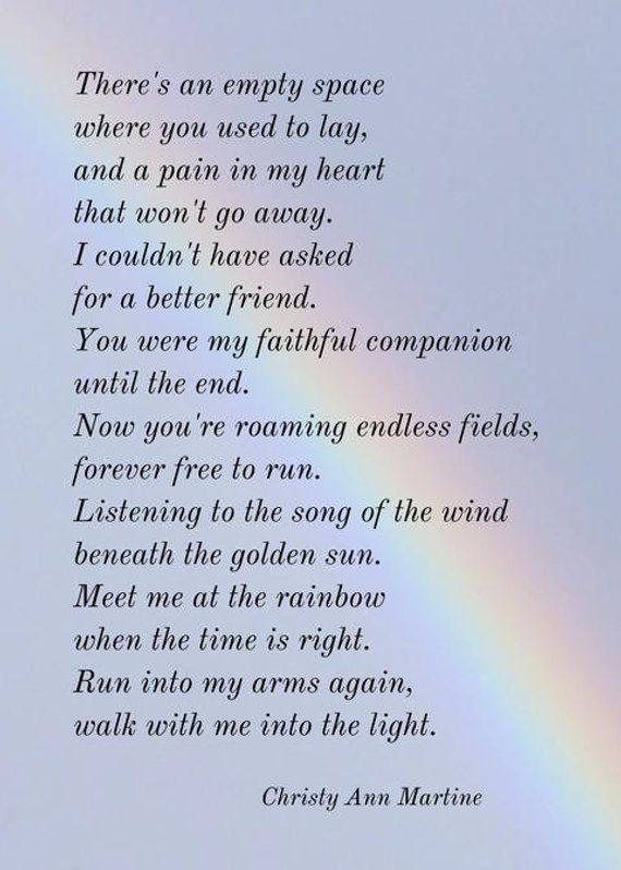 Pet Sympathy Poems 7