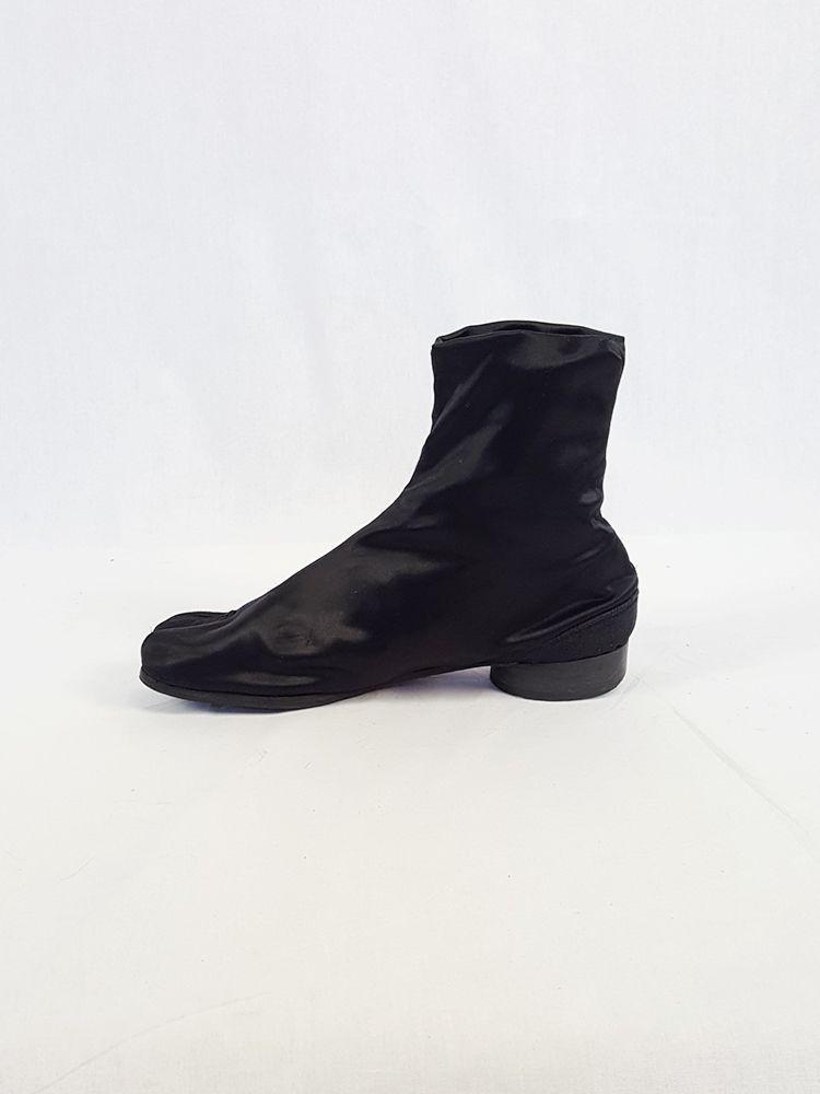 4ac800f5178 Maison Martin Margiela black satin tabi boots with low heel (37 ...