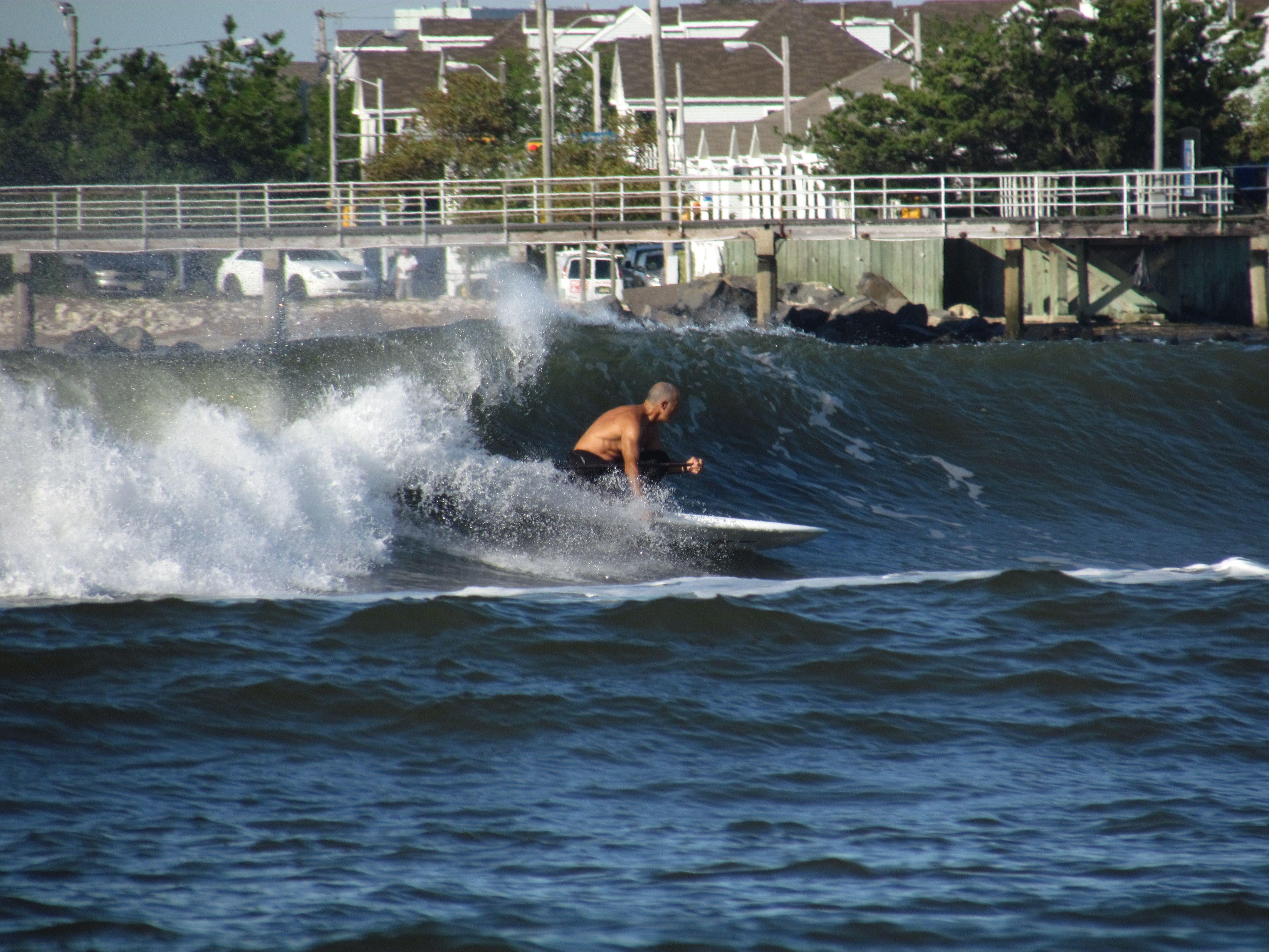Sup Down The Line Brigantine Nj Sup Surf Surfing Brigantine