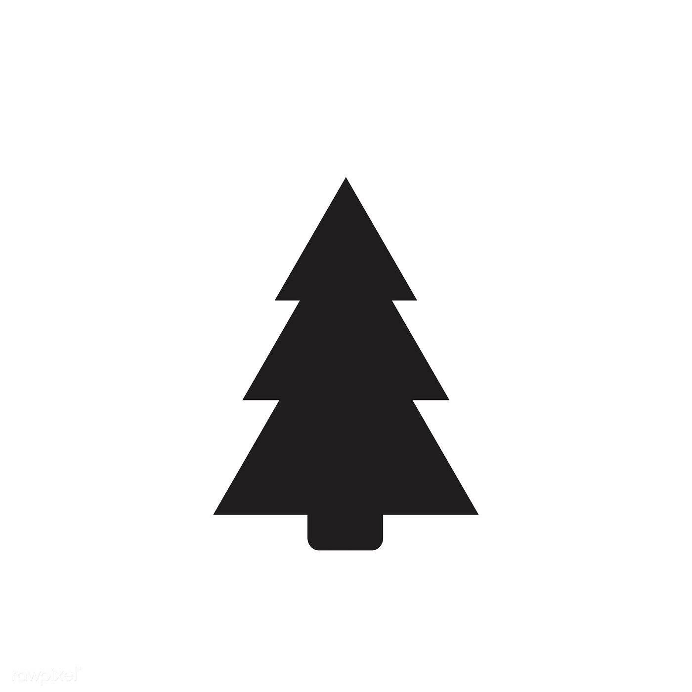 Christmas Tree Facebook Icon: Christmas Tree Icon On White Background