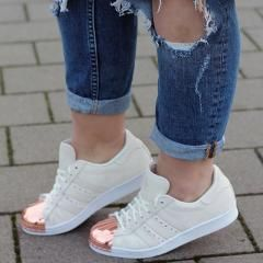 adidas originals superstar 80s rose gold metal