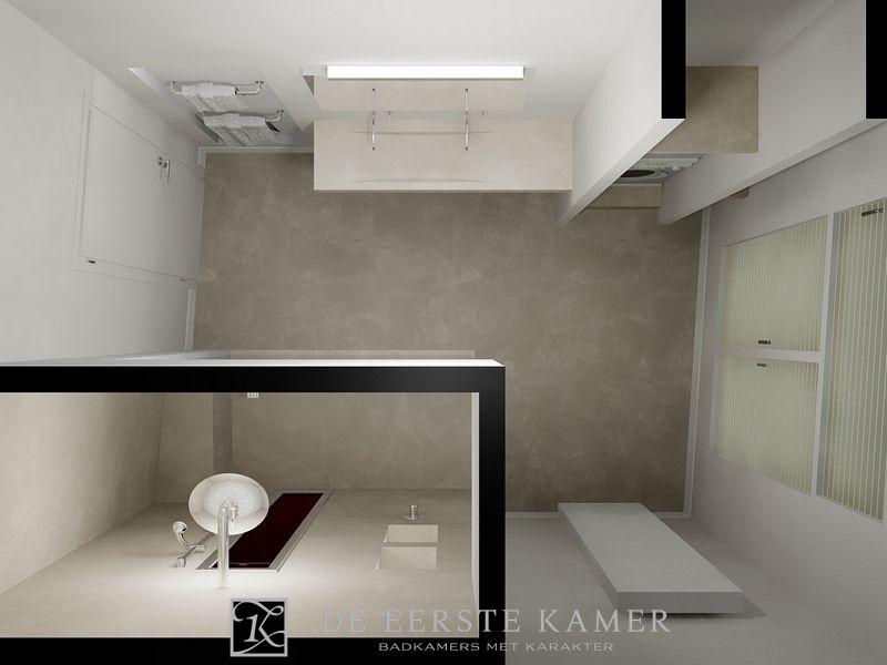 Beton Cire Tegels : De eerste kamer een schitterende badkamer zonder tegels met