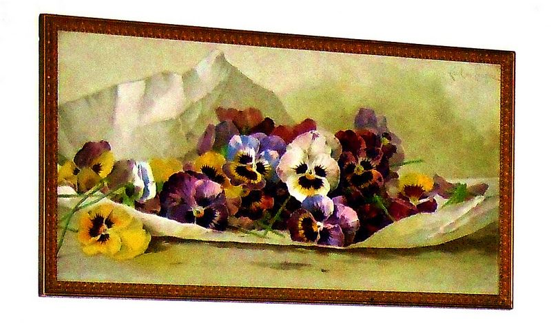 Pansy print 1/2 yard long , by famous Floral Artist Paul de Longpre @1920 | Flickr - Photo Sharing!