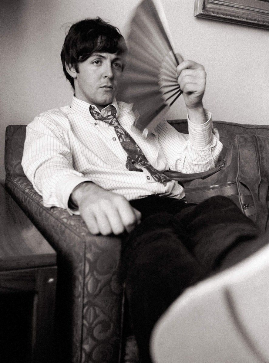 Paul Mccartney Of The Beatles Shows The Strain Of Touring Whilst Waiting In  A Hotel Room