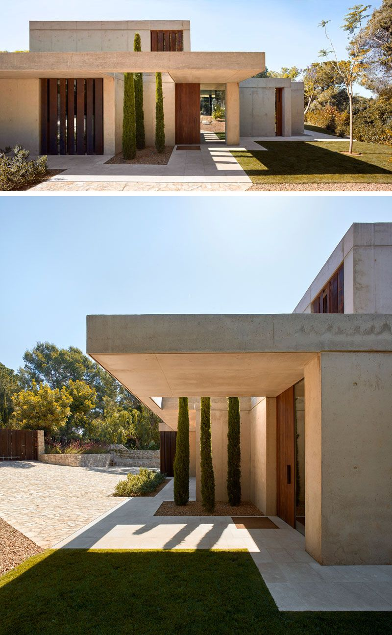 Home In The Pine Forest By Ramon Esteve | Concrete, Stone and Modern