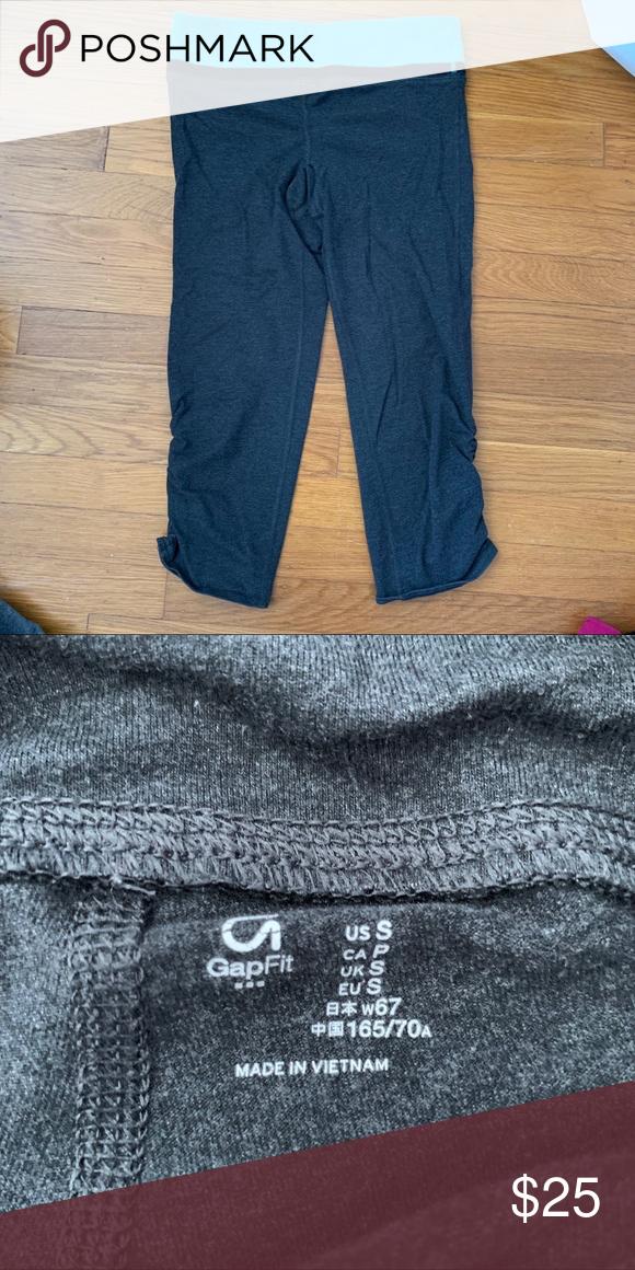 GapFit Dark Grey Cropped Workout pants leggings