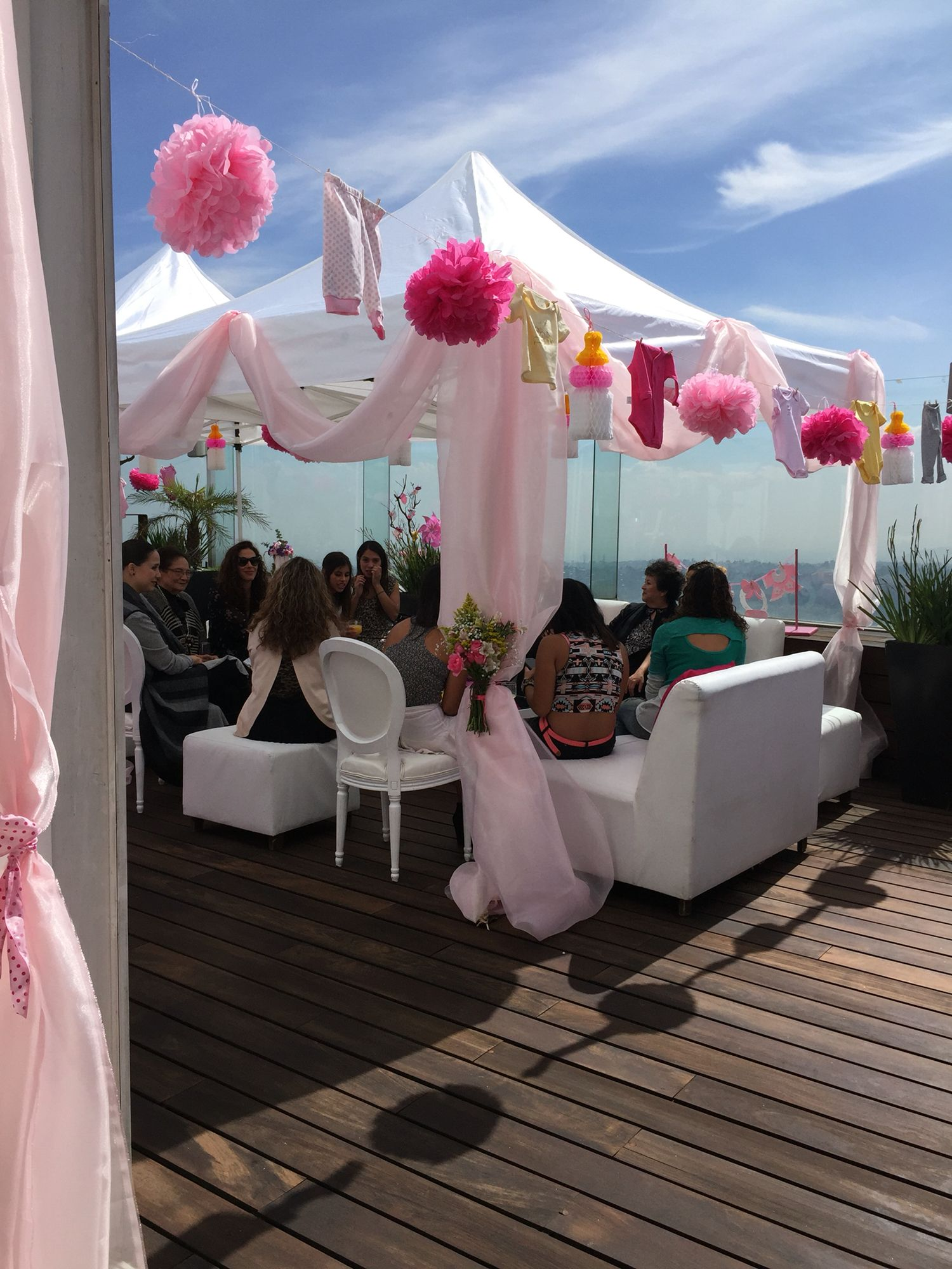 Decoraci³n de terraza para baby shower