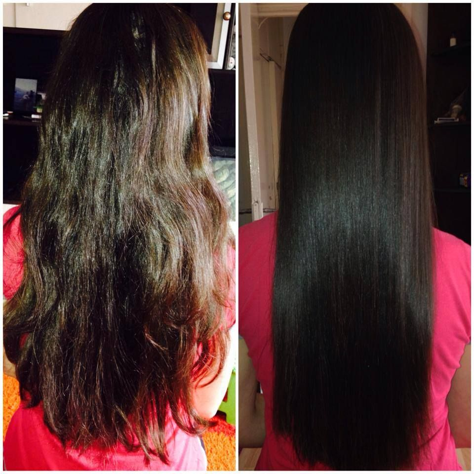 Keratin Treatment Poze Inaintedupa Tratament Long Dark Brown