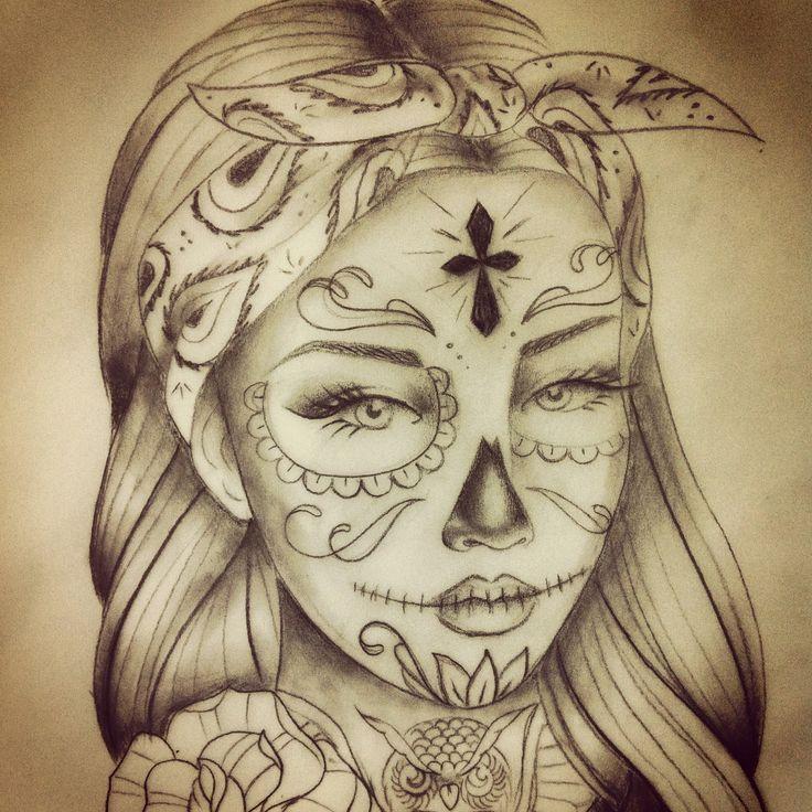 Tatouage Santa Muerte Recherche Google Tatuaż