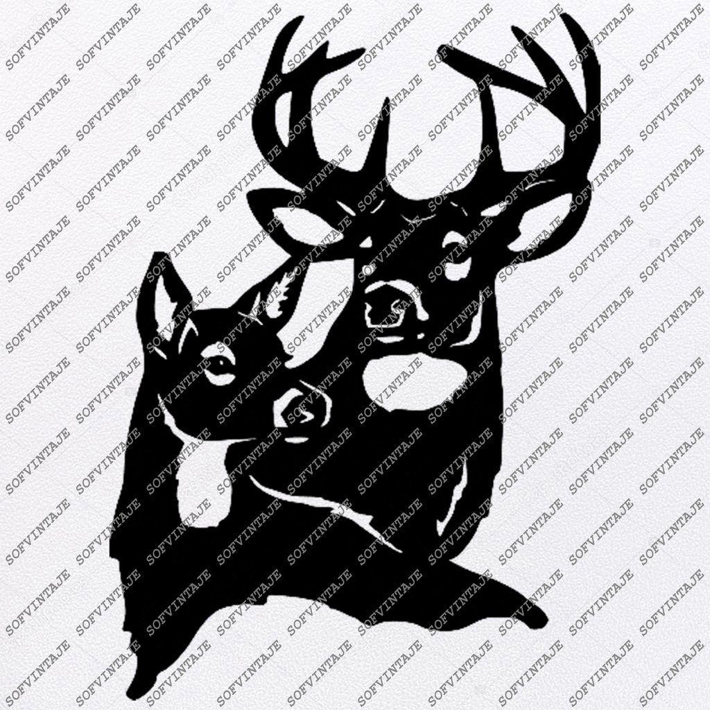 Deer Svg FileDeer Original Svg DesignAnimals SvgTattoo
