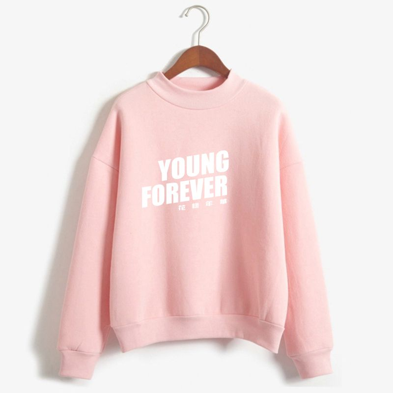 bfc8795be Cheap Hoodies & Sweatshirts, Buy Directly from China Suppliers:Bullet Proof  Kawaii Pink Hoodie Women Bangtan Boys Clothing BTS Kpop Hoodies Young  Forever ...