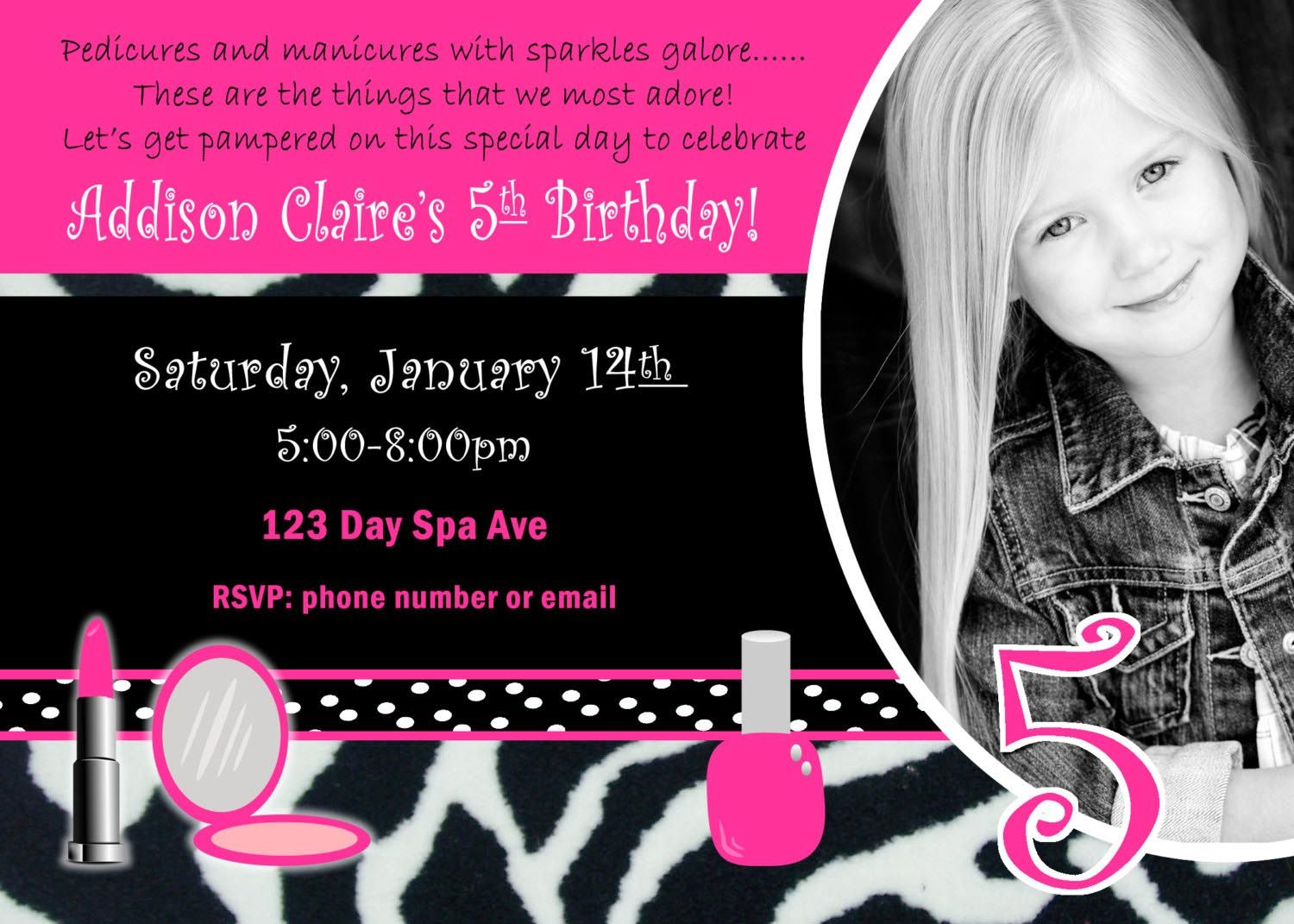 Girls spa party invitations spa party pinterest spa party girls spa party invitations monicamarmolfo Choice Image