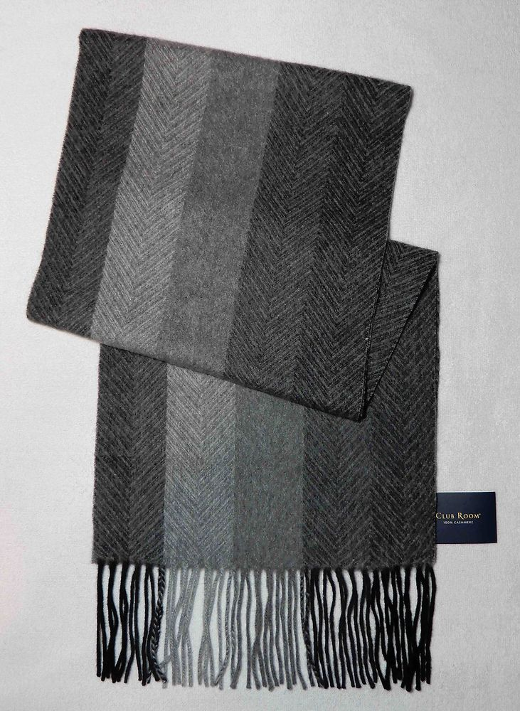 COACH 84080 Men/'s women/'s 198 Lozenge Muffler Scarf 100/% Cashmere light gray NWT