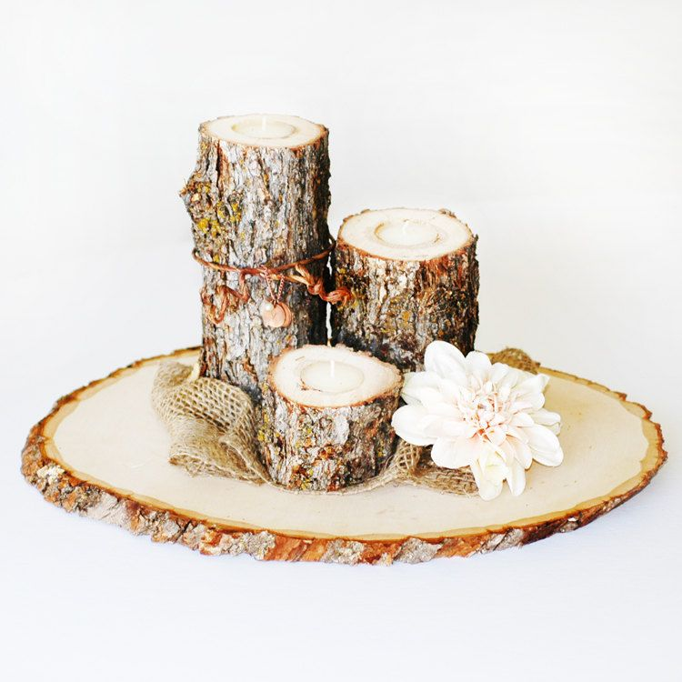 Wonderful Rustic Wood Tree Slice Centerpieces, Trivets, Hot plates, Chargers  RA76