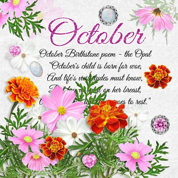 October Birthstone Color and Flower October flowers