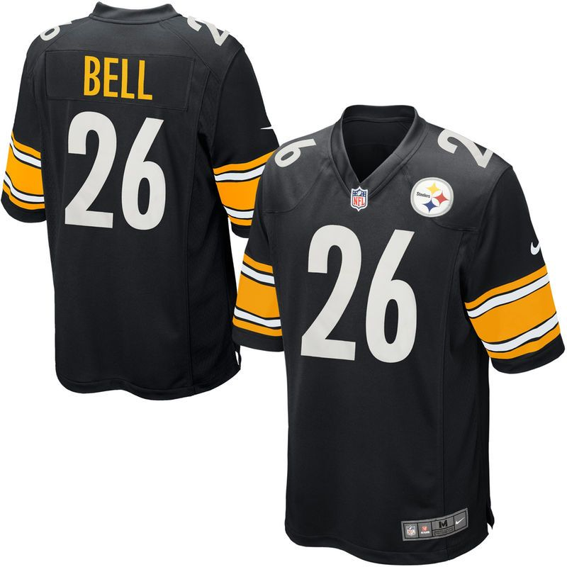 0f0de5ea7c2 ... low price leveon bell pittsburgh steelers nike game jersey black 55ac8  5d30c